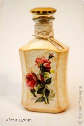 Декор предметов Декупаж ДЕКУПАЖ бутылочки новые и старые  Бутылки стеклянные Салфетки фото 88