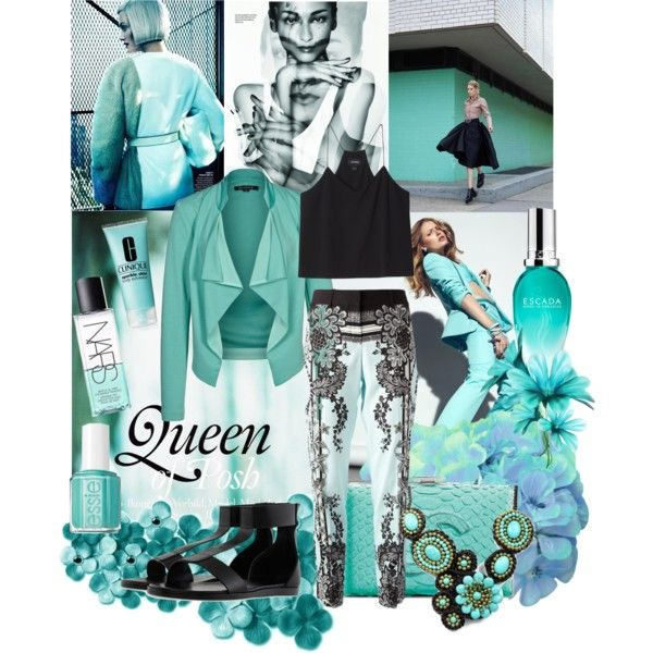 """turquoise"" by lelouka on Polyvore"