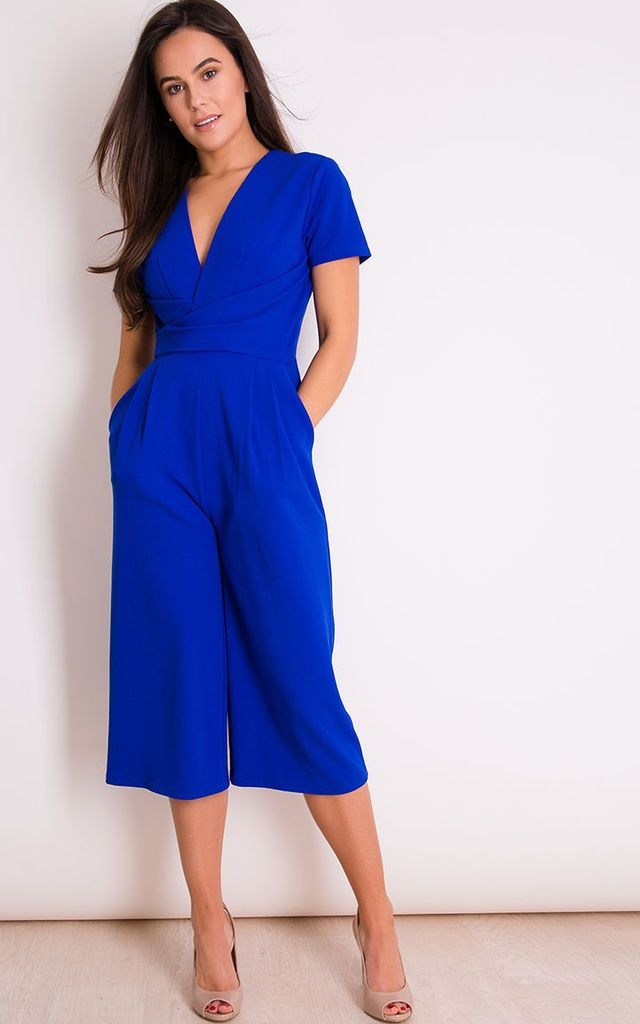 a8dce34adaa Megan Short Sleeve Culotte Jumpsuit Cobalt By Girl In Mind in 2019 ...