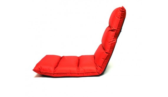 OUTSIDE LOUNGER -ADJUSTABLE BACK & FEET - RED