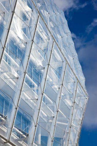ETFE;     Unilever House  Germany, Hamburg;    Architect: Behnisch Architekten;    http://behnisch.com/projects/344