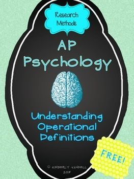 AP Psychology exam review for research methods and operational definitions