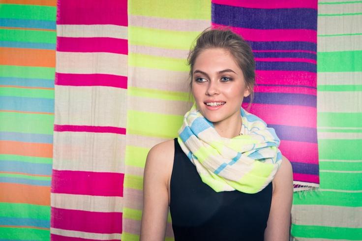 cotton striped scarves - handmade in ethiopia