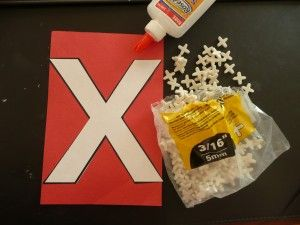 Letter X ~ X tile spacers
