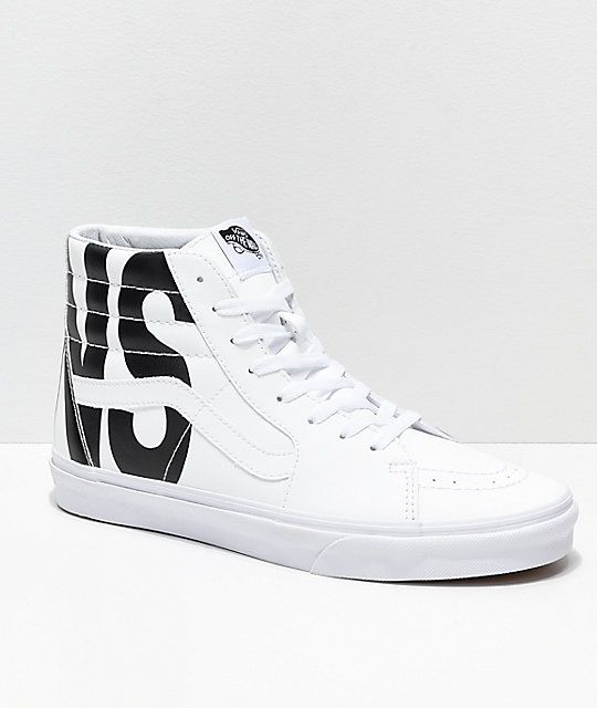 de9b8b8752 Vans Sk8-Hi Classic Tumble White Shoes