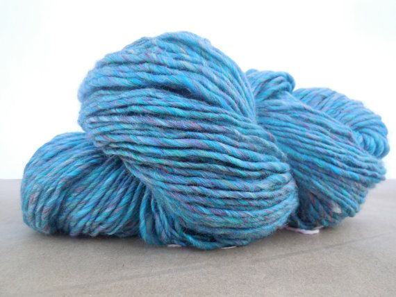 Handspun yarn Colonial wool 340 yards 8oz singles by SpinHeartSpin, $54.00