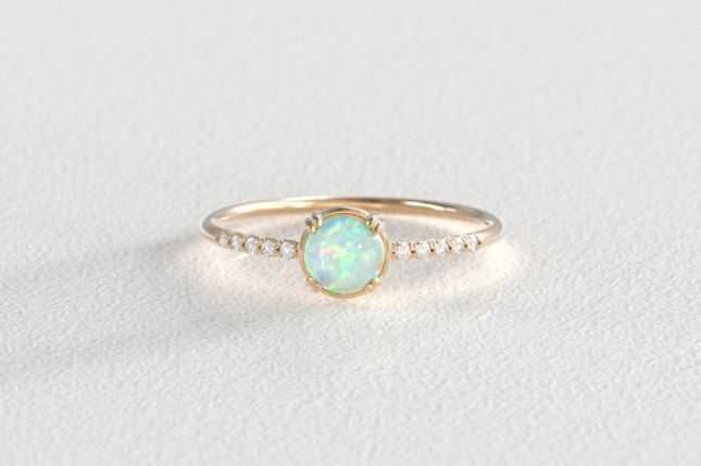 1000+ Ideas About Opal Engagement Rings On Pinterest
