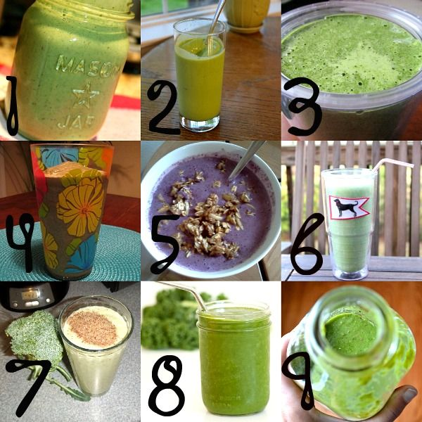 7  Green Smoothies - for a one week green challenge!: Smoothie Challenges, Health Food, Green Smoothie Recipes, Green Healthy, Healthy Eating, Green Smoothies, Green Monsters, Healthy Food, Peanut Butter