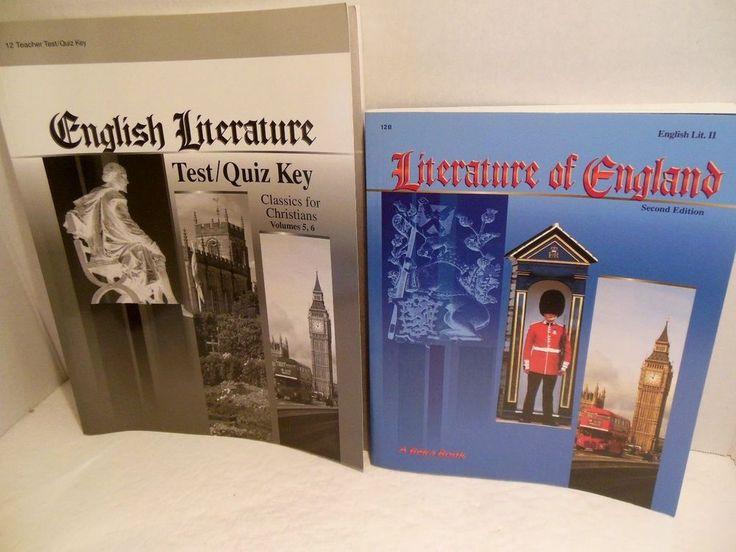 A Beka LOT Literature of England 12th Grade Text Teacher Test Key Homeschooling