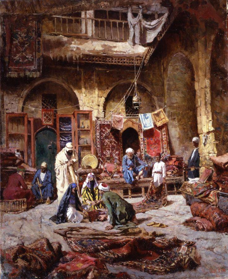 El bazar de tapices, Giovanni dell Orto. Tras la pacificación de Abderramán III al-Andalus vivió un período de paz y prosperidad nunca antes conocida.