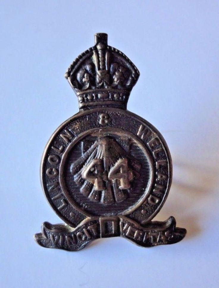 44th Lincoln & Welland Collar Badge Canada Militia 1910 Pattern