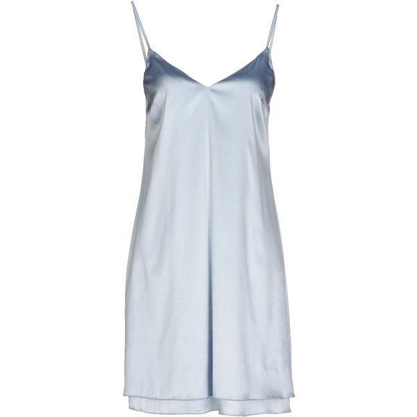 Carla G. Short Dress ($145) ❤ liked on Polyvore featuring dresses, sky blue, no sleeve dress, short dresses, sleeveless dress, blue mini dress e mini dress