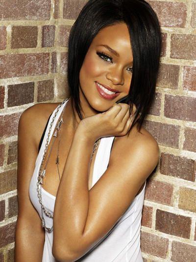 RhiannaMusic, Hairstyles, Dark Hair, Rihanna, Makeup, Shorts Haircuts, Hair Cut, Hair Style, Long Bobs
