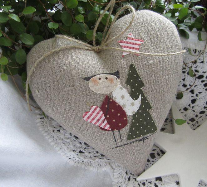Herz+mit+Engel-+Weihnachten-+Landhaus+von+Feinerlei+auf+DaWanda.com