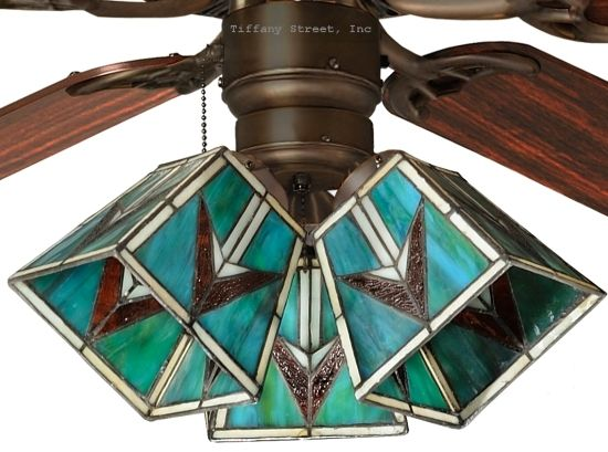 stained glass ceiling fans | Details about Southwest Tiffany Style Stained Glass Ceiling Fan Shade