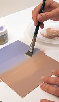 Painting Tips: How to blend acylic paints as you would oil paints. A step-by-step tutorial for advanced blending and painting techniques.