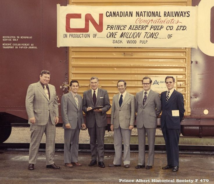 Prince Albert Pulp Mill hits its one millionth ton on June 26 1973 PaHS FB photo.