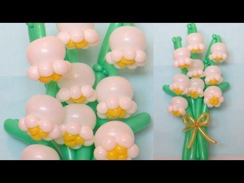 Цифра из шаров на 8 Марта / Figure eight of flowers of balloons - YouTube