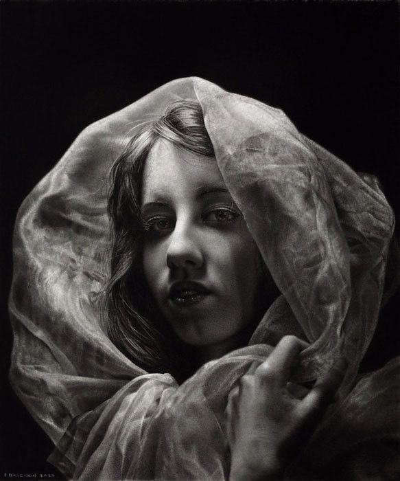 Сотни часов работы и годы обучения: портреты карандашом в стиле мастеров Ренессанса (10фото) » Картины, художники, фотографы на Nevsepic