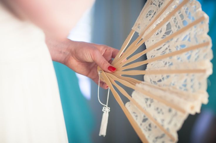 Fans for a summer wedding @ Chateau Dore Winery