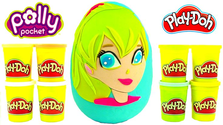 Polly Pocket Oyun Hamuru DEV Sürpriz Yumurta Açma Lila Shani Polly Oyunc...