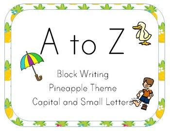 This Cute Pineapple Theme Block Letter Alphabet Line is perfect for your bright, tropical pineapple theme classroom.