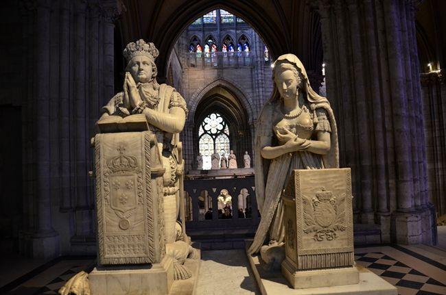 Marie Antoinette e Louis XVI, basilique de Saint Denis www.arttrip.it/saint-denis-basilica/