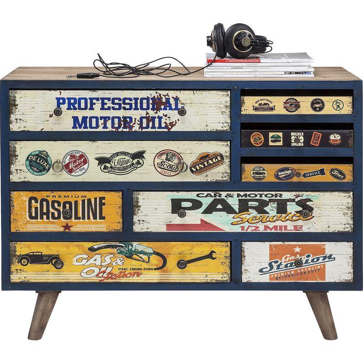 Garage Style dressoir 9 lades bruin - Kare Design