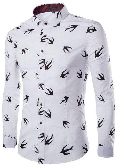 Camisa Casual Fashion con Cuello Mandarín Juvenil - Diseño Moderno - Blanca