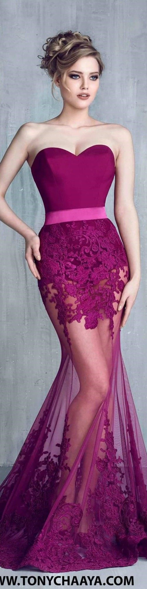 Tony Chaaya couture 2016 women fashion outfit clothing style apparel @roressclothes closet ideas Más