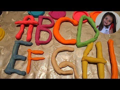 Giochiamo e impariamo le lettere con la playdoh dalla A alla I