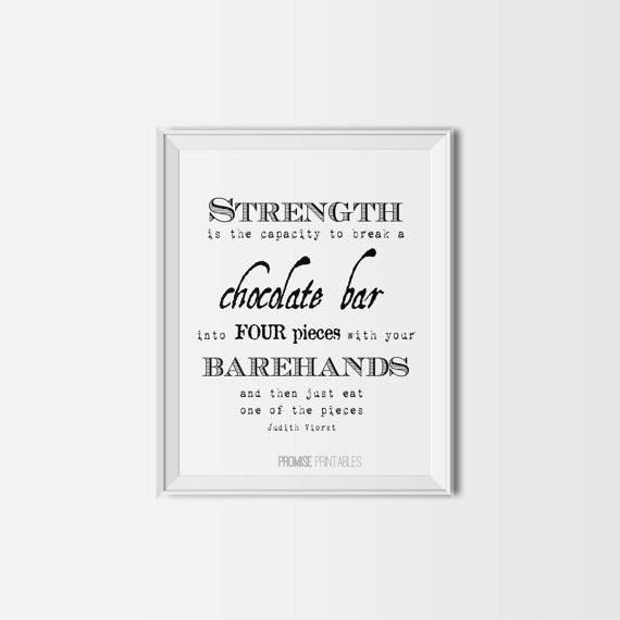 minimalist chocolate inspirational typography by PROMISEPRINTABLES, $5.00