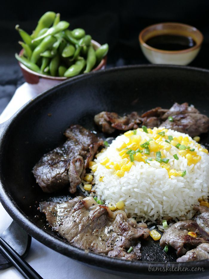 Pepper Lunch Beef Rice Sizzle_Watermarked / http://bamskitchen.com
