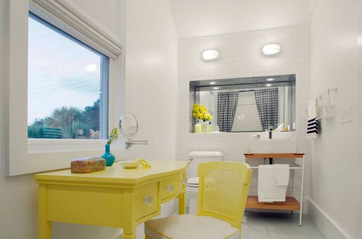 Yellow dressing table
