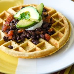 Cornmeal Waffles with Black Beans | Bob's Red Mill