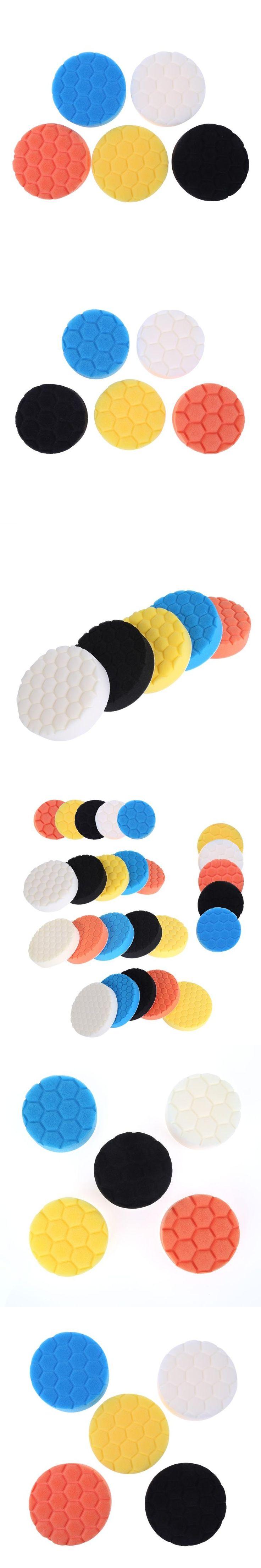 5pcs 3/4/5/6/7inch car polishing pad set Polishing Buffer Waxing Buffing Pad Drill Set Kit Car Polishing sponge Wheel Kit