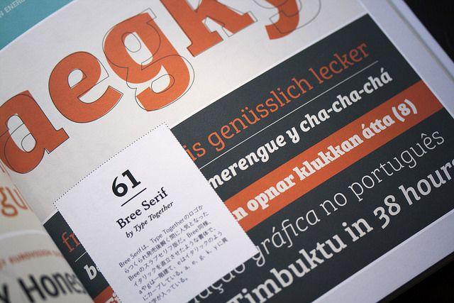 Bree Serif, Gerard Unger's Alverata and Ermin Međedović's Lipa Agate featured in the Japanese magazine Typography 06.