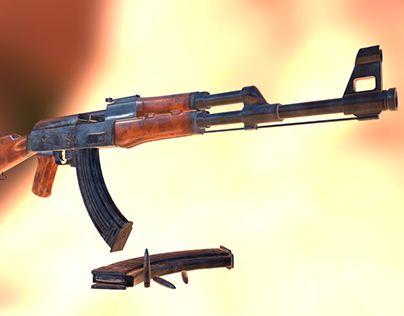 """Check out new work on my @Behance portfolio: """"3D AK-47 Assault Rifle"""" http://be.net/gallery/41370853/3D-AK-47-Assault-Rifle"""