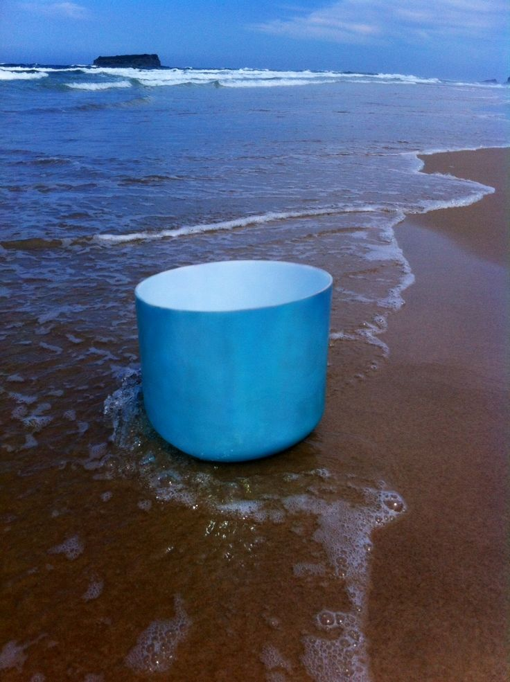 Gorgeous Crystal Tones Singing bowl on the beach!
