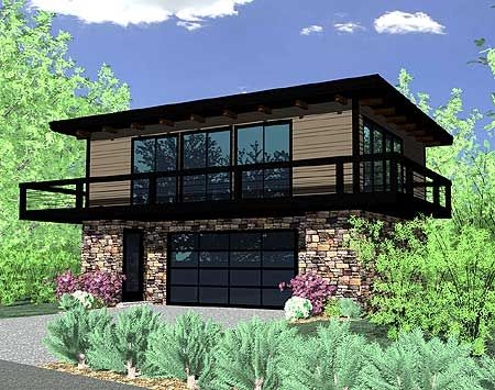 Plan 85019MS: Petite Contemporary Home Plan