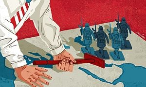 US and western policy in the conflagration that is now the Middle East is in the classic mould of imperial divide-and-rule. American forces bomb one set of rebels while backing another in Syria, and mount what are effectively joint military operations with Iran against Isis in Iraq while supporting Saudi Arabia's military campaign against Iranian-backed Houthi forces in Yemen. However confused US policy may often be, a weak, partitioned Iraq and Syria fit such an approach perfectly