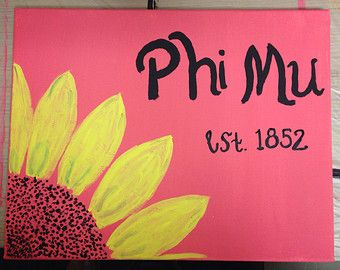 Phi Mu Sorority Canvas