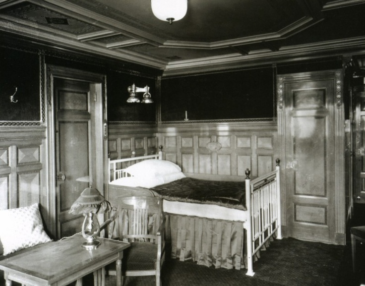 $15.96 RMS TITANIC FIRST CLASS STATEROOM WHITE STAR PASSENGER SHIP LINE 1912 PHOTO