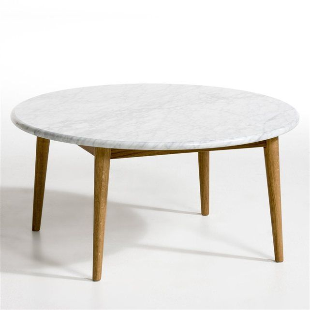 Table basse b ate plateau marbre am pm le marbre for Table basse scandinave ampm