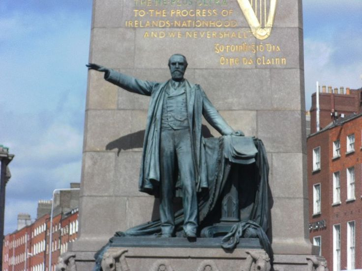 Charles Stewart Parnell Ireland..The Parnell Monument at the north end of O'Connell Street.