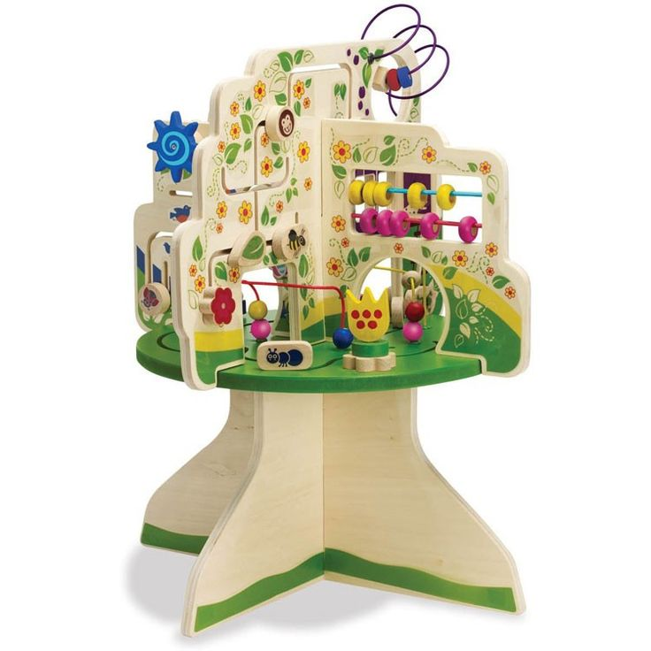 Large Wood Bead Maze Table Wooden Thing