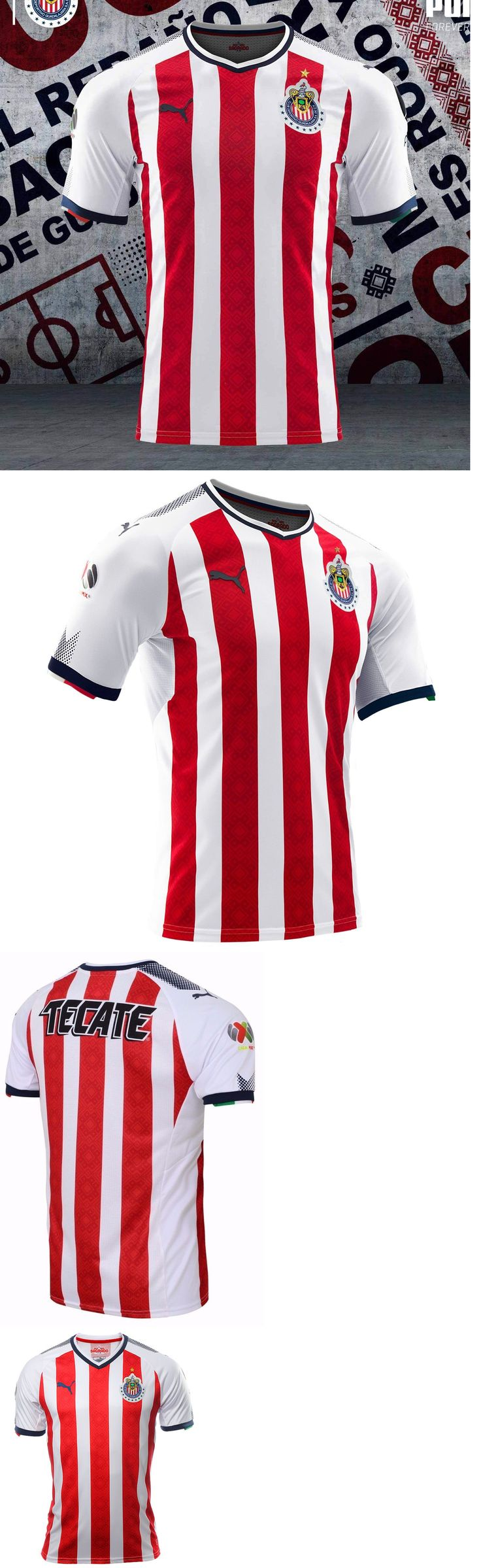 Soccer-International Clubs 2887: Puma Chivas De Guadalajara Authentic Players Home Jersey 2017 18. -> BUY IT NOW ONLY: $140 on eBay!