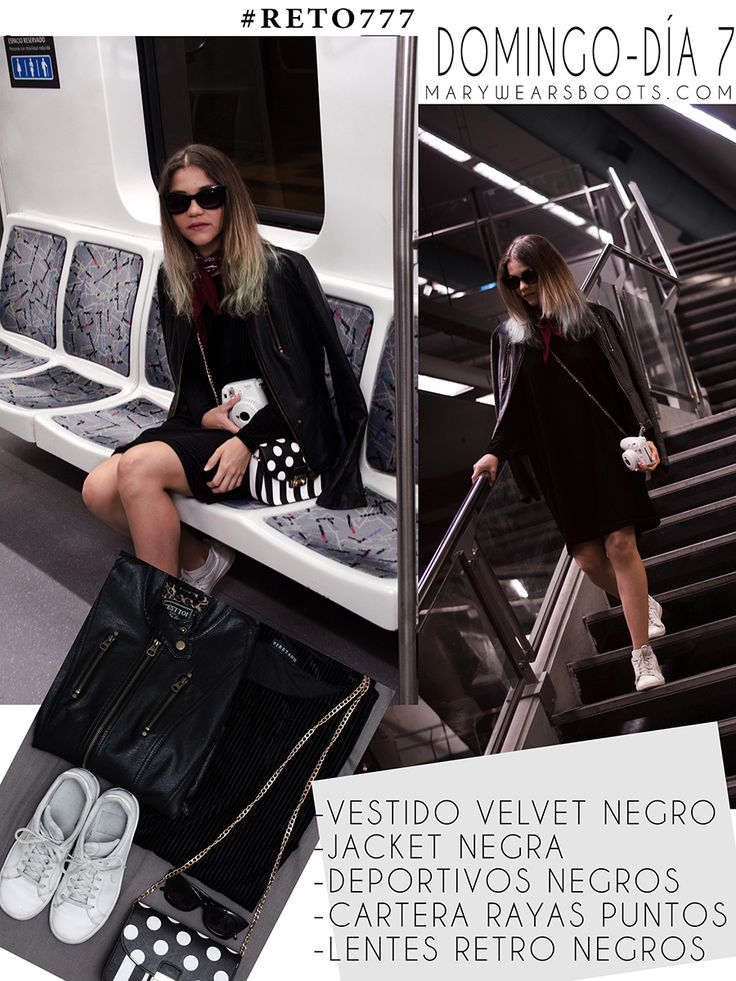 7 OUTFITS PARA TODA LA SEMANA CON 7 PRENDAS DE ROPA Vestidos Velvet, Retro, Casual Outfits, Celebs, Street Style, How To Wear, Boots, Fashion, Happy