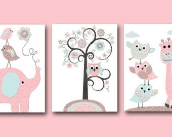 Baby Girl Nursery Quotes Kids Wall Art Kids Art INSTANT DOWNLOAD Art Baby Nursery Decor Digital Print Digital Download set of 4 8×10 11X14