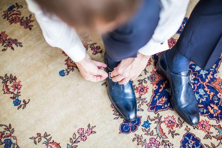 Blauwe bruidsschoenen, blauw, lak, glans, bruidegom